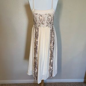 Alter'd State Flower Child Cream Dress Size Small